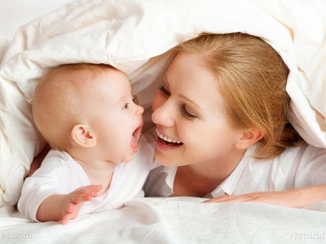 "Mothers who smile a lot at their babies and maintain eye contact ""sync up"" with them, improving brain development"