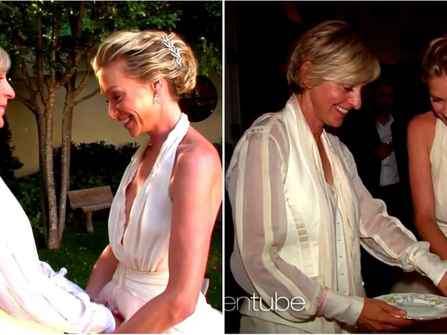 Ellen and Portia Celebrate Their 10-Year Anniversary With an Insanely Cute Wedding Video