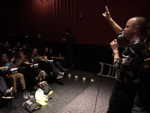 Aaron Paul Surprised Fans at a Breaking Bad Screening, and They Were Thrilled, Naturally
