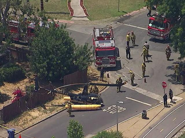 Helicopter makes hard landing in Sherman Oaks neighborhood