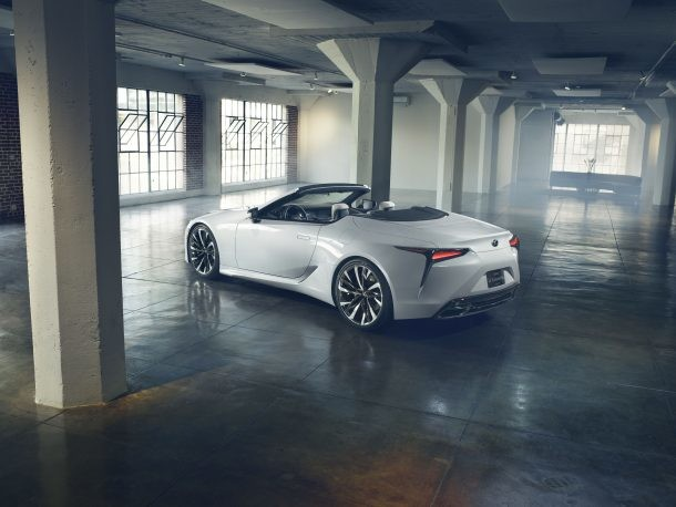 Lexus' LC Convertible 'Concept' Is More Like a Halo in Waiting