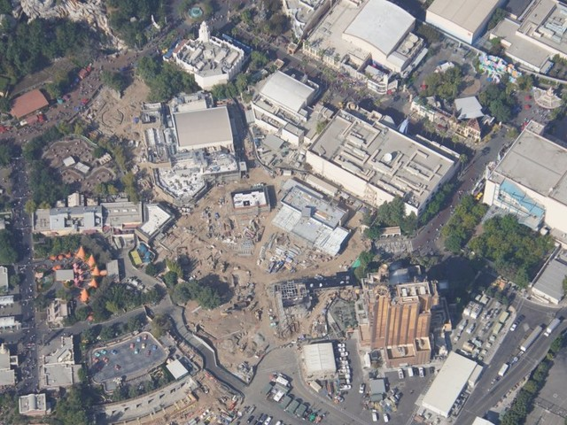 Aerial photos show Avengers Campus construction as Marvel land takes shape at Disney California Adventure