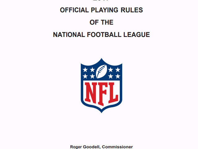 The new NFL rule book contains a page that says 'delete this page'