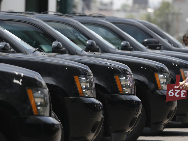 Mexico auctions seized vehicles outside presidential mansion