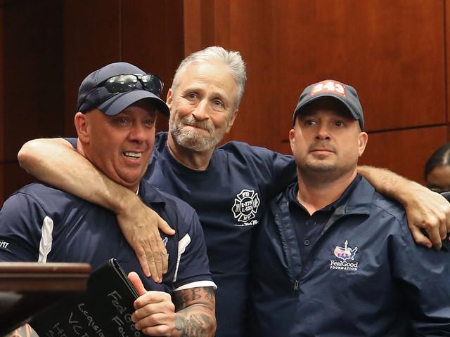 Jon Stewart leads blitz to inform non-first responders of 9/11 health fund