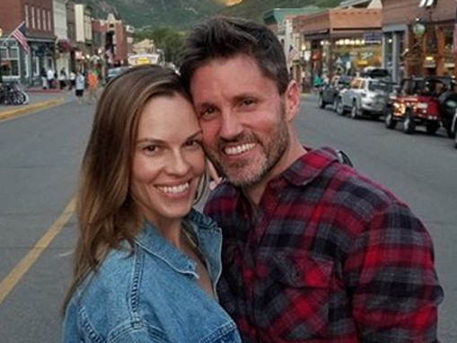 Hilary Swank Shares Rare Photo with Husband Philip Schneider on One-Year Wedding Anniversary!