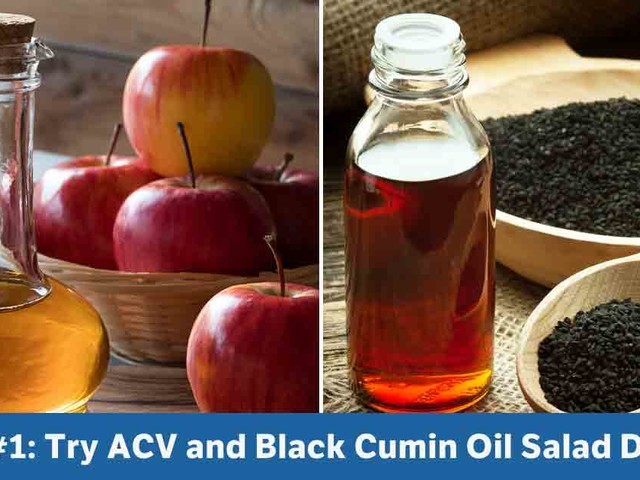 Try Apple Cider Vinegar and Black Cumin Oil as Your Go-To Salad Dressing