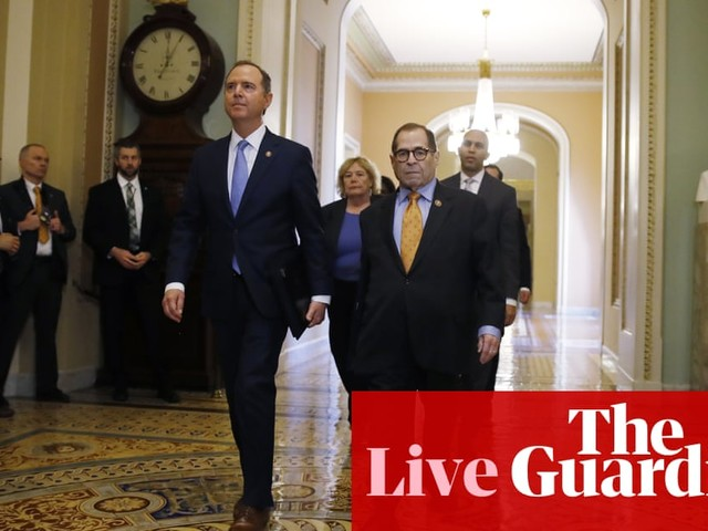 Trump impeachment trial begins as Schiff reads out charges against president – live