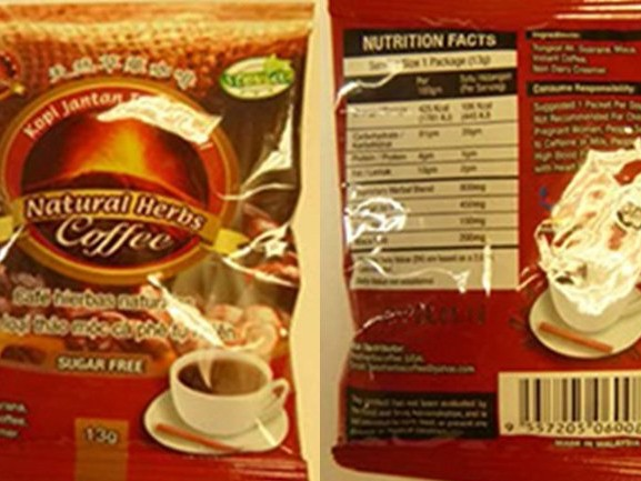 Coffee recalled for undeclared Viagra-like ingredient