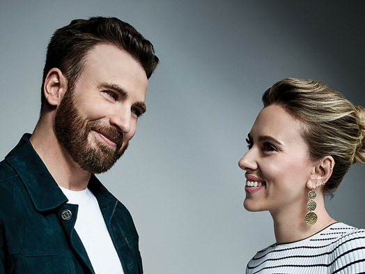 Chris Evans and Scarlett Johansson on Marvel, 'Marriage Story' and 'Knives Out'