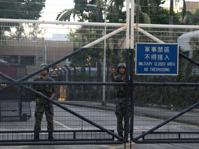 Mainland Chinese soldiers deployed to Hong Kong protests for first time