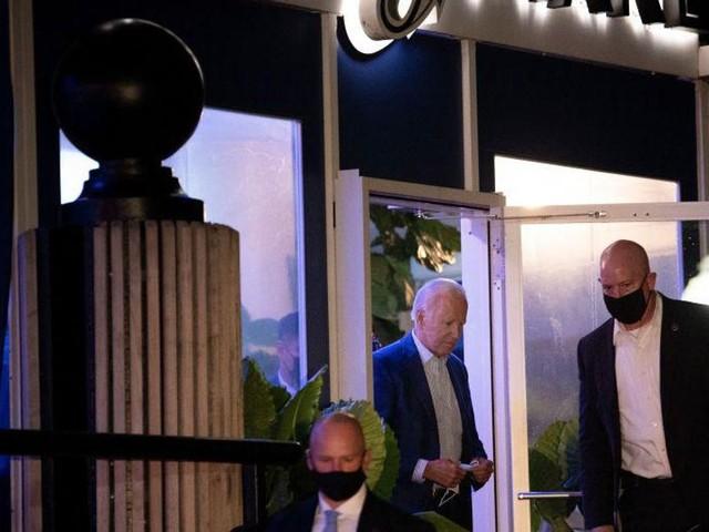 President Biden caught not wearing mask at swanky DC restaurant, violating city's mask mandate