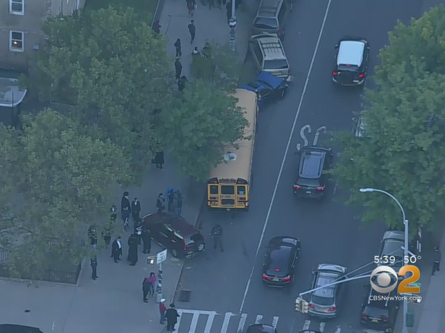 School Bus Driver Loses Control, Slams Into Several Parked Cars In Brooklyn