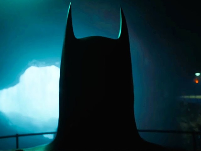 Michael Keaton's Batman Returns To The Batcave In The Flash Movie Image
