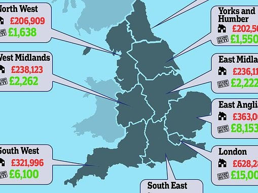 Stamp duty cut: How much it saves on the average home near you