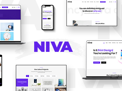Niva - Creative Agency & Freelancer WordPress Theme (Portfolio)