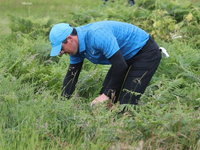 Rory McIlroy's first British Open tee shot could not have gone worse