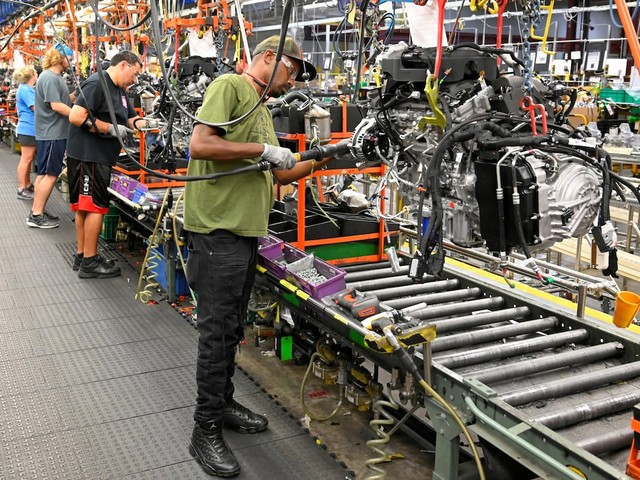 A gauge of US manufacturing spikes to its highest in 16 months as the sector shows signs of life