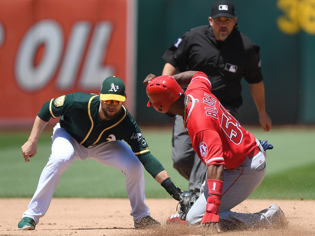 Manaea Survives Rough Fifth Inning, A's Beat Angels 6-4