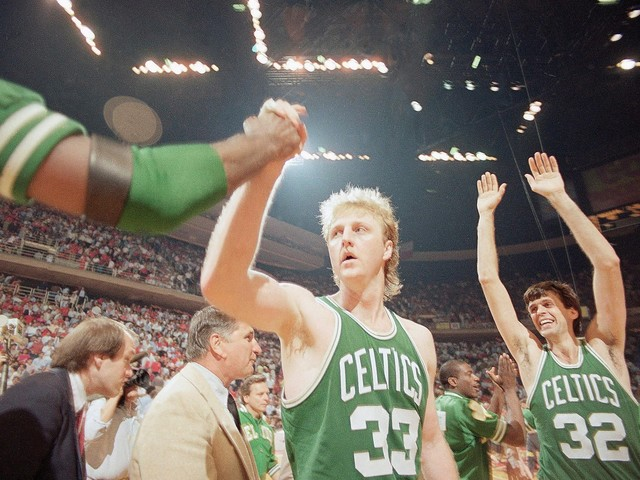Larry Bird on Magic Johnson, free agency and shooting 3s