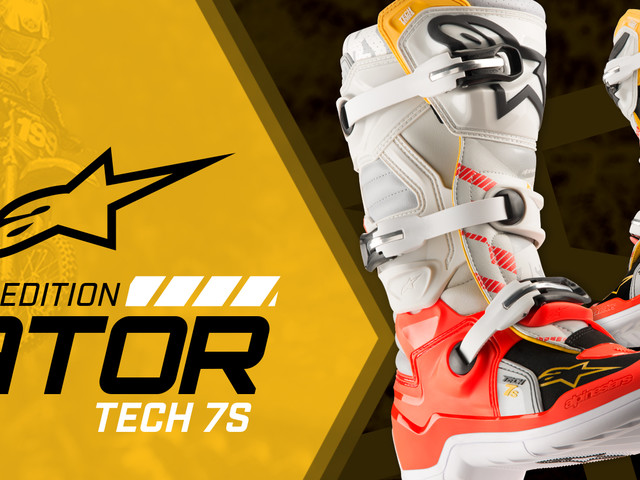 "Alpinestars | Limited Edition ""Gator"" Tech 7S Boot - Youth Boot & Apparel"