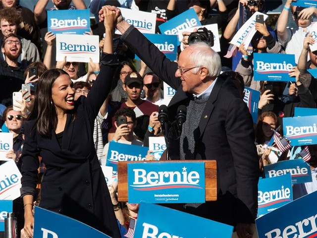 AOC, Michael Moore pinch-hit at Iowa rally with Bernie Sanders in DC for Trump's Senate impeachment trial
