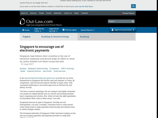 Singapore to encourage use of electronic payments