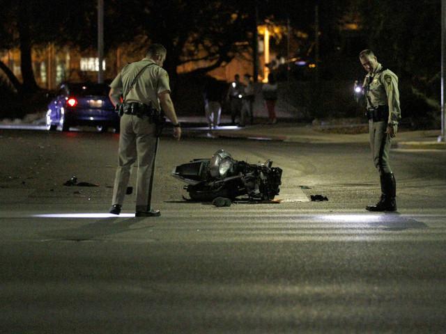 Motorcyclist killed in central Las Vegas crash