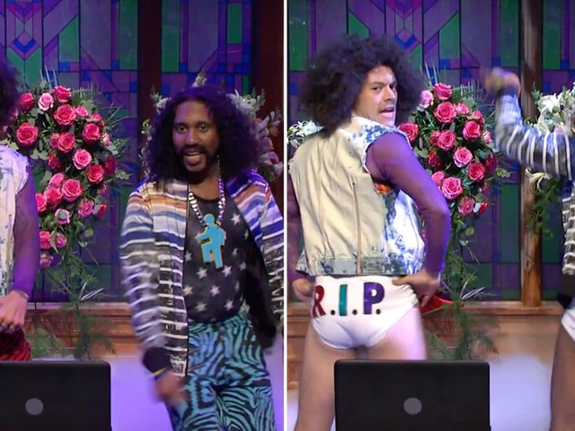 Mhmm, Harry Styles Indeed Ripped Off His Pants While Playing a Funeral DJ on SNL