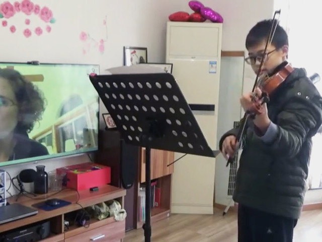 Violin Lessons During the Coronavirus Outbreak. A Pupil's Progress.