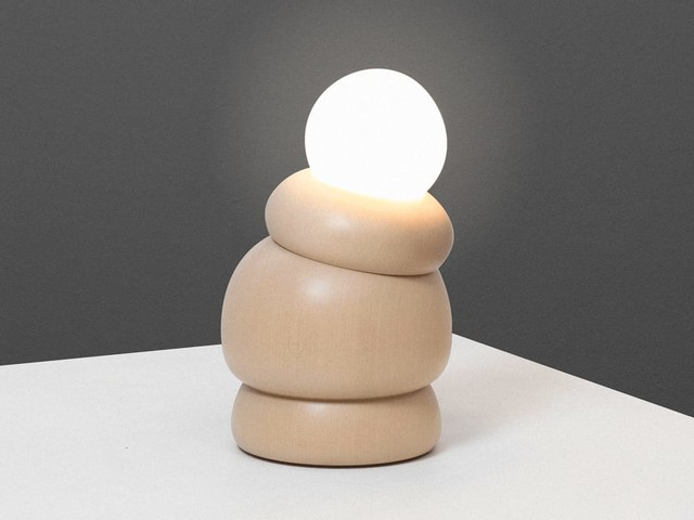 This quirky, tilting lamp is built like the human knee