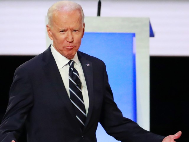 Joe Biden mangled his campaign's web address at the end of the Democratic debate — and then Pete Buttigieg's campaign bought the domain name
