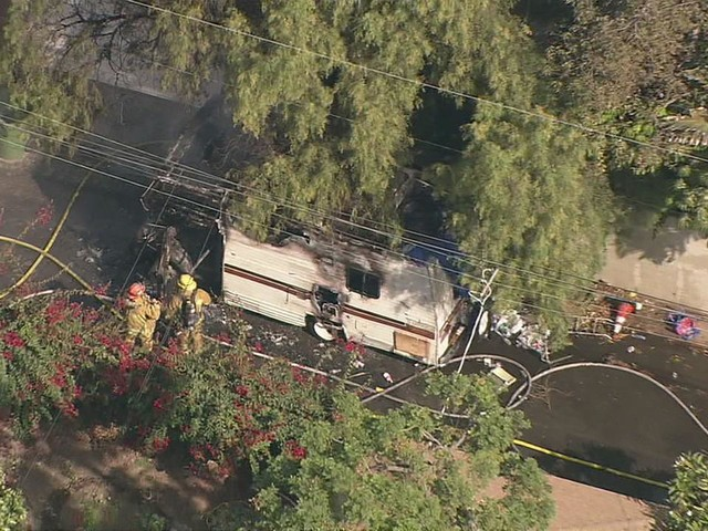 Person found dead inside RV after fire in Cheviot Hills area