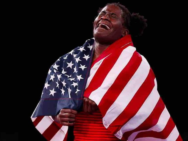 US gold medal winner's unguarded, faith-filled tears of joy — and patriotic verve — might be best moment of Tokyo Olympics