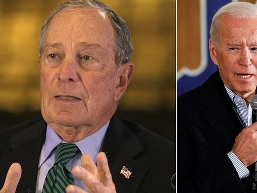 Michael Bloomberg says he's 'not trying to take Joe Biden's job'