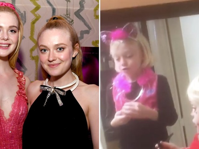 Elle Fanning Is Everyone's Eager Little Sister in Throwback Halloween Video With Dakota