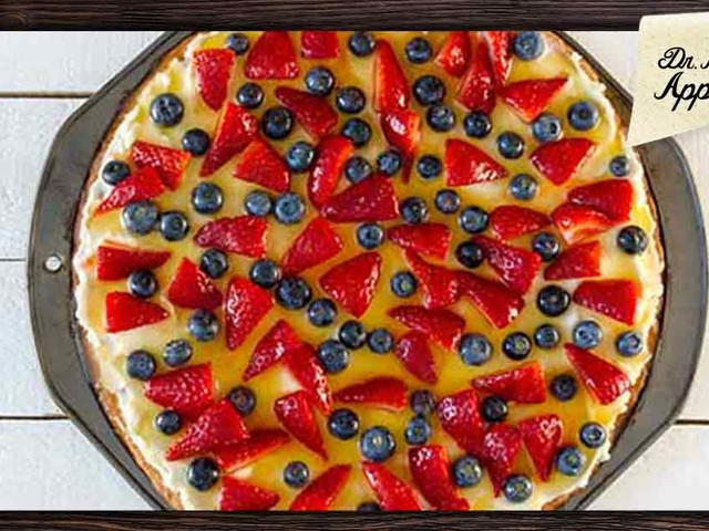 Easy and healthy fruit pizza recipe