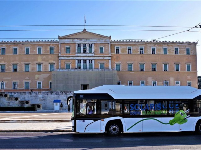 The Urbino Electric Bus Undergoes Testing in Athens