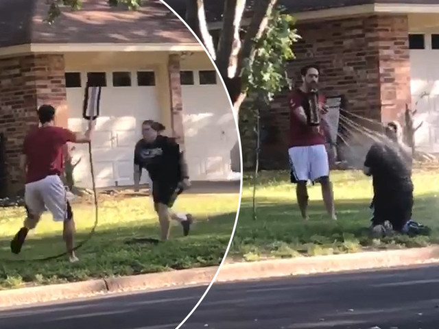 Texas man sprays woman with hose over BLM argument with neighbor: video