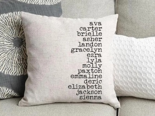 Personalized Throw Pillow Cover only $11.99 shipped!