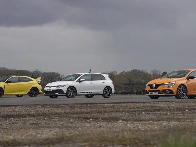 Battle of Hot Hatches: Volkswagen Golf GTI vs Honda Civic Type R vs The Renault Megane Trophy