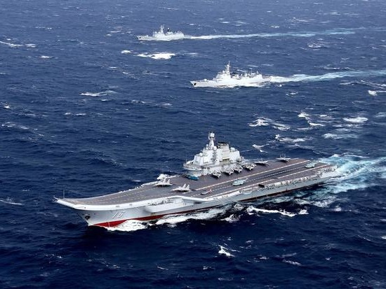 China Sails Carrier Strike Group Through Taiwan Straight After US Navy TransitedContested Waters