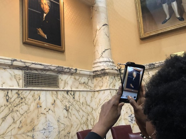 First black female state senator in U.S. is now first black person with a portrait in Md. State House chamber