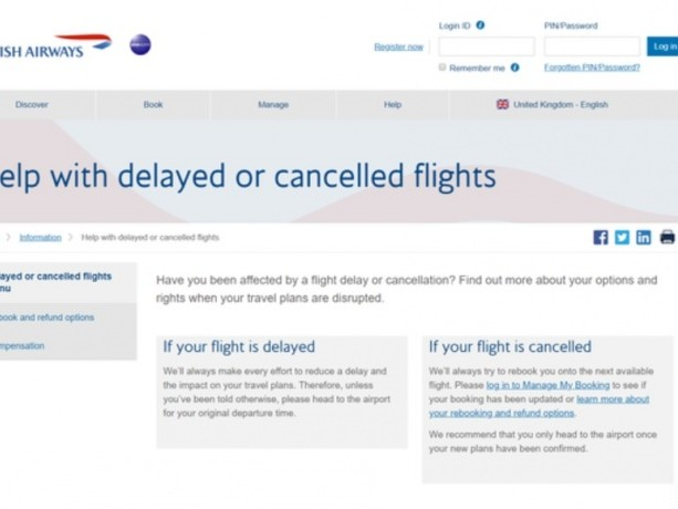 News: British Airways launches new online help centre for delayed passengers