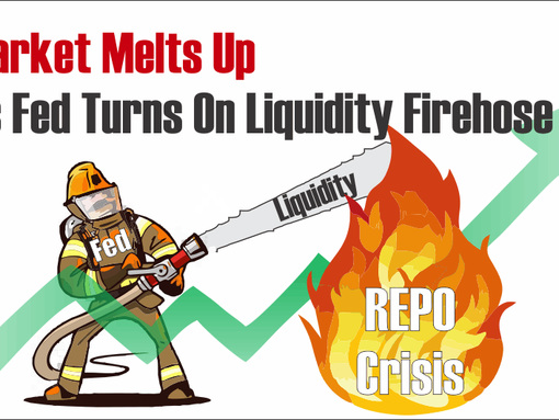 Market Melts Up As Fed Turns On The Liquidity Firehose