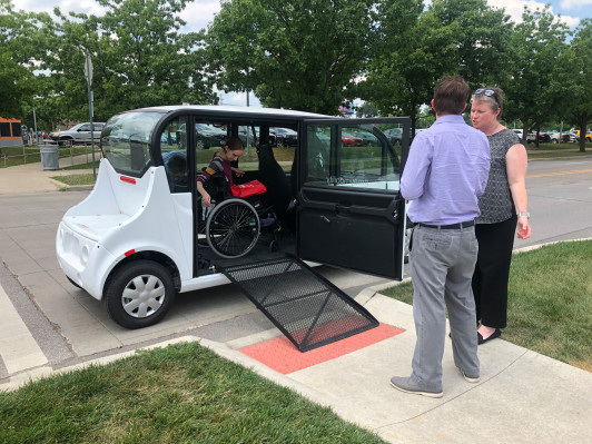 May Mobility reveals prototype of a wheelchair-accessible autonomous vehicle