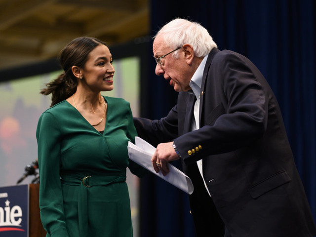 AOC compares unfulfilled campaign promises to heartbreak at Bernie Sanders rally