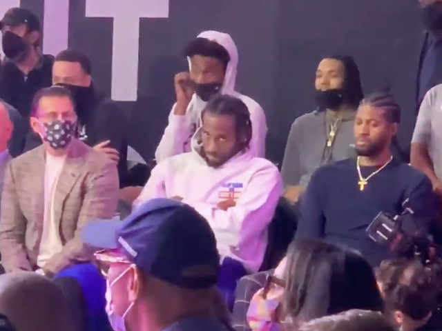 Kawhi Leonard is not amused by the new Clippers arena's groundbreaking ceremony