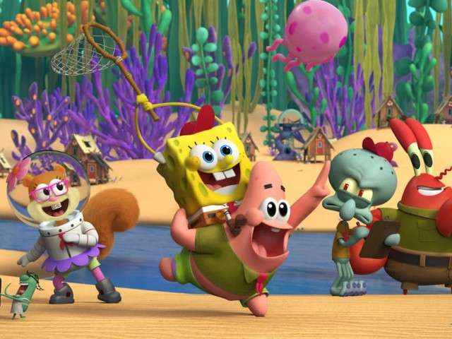 Who lives in a prequel that's made with CG? SpongeBob SquarePants!