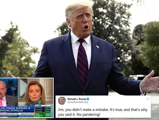 Trump slams CNBC's Jim Cramer for apologizing after calling Pelosi 'crazy Nancy' to her face